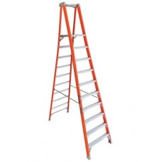 Louisville Extended Rail IA Type Fiberglass Podium Ladder (10 steps)