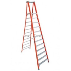 Louisville Extended Rail IA Type Fiberglass Podium Ladder (12 steps)