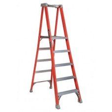 Louisville Extended Rail IA Type Fiberglass Podium Ladder (5 steps)