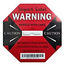 Impact Label 50G Red, Drop Height: 30-60cm