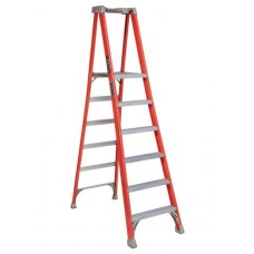 Louisville Extended Rail IA Type Fiberglass Podium Ladder (6 steps)