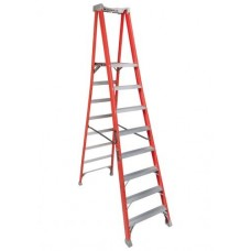 Louisville Extended Rail IA Type Fiberglass Podium Ladder (8 steps)