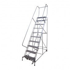 Stocky Steel Step Ladder with Wheel - 4 Step