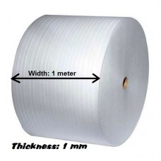 Plain PE Foam Sheet In Roll - 300m (L) x 1m (W) x 1mm (Thickness)