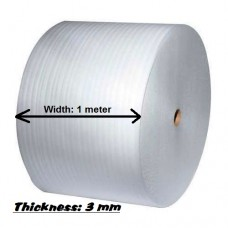 Plain PE Foam Sheet In Roll - 100m (L) x 1m (W) x 3mm (Thickness)