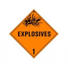 Class 1 Explosives Label DG-01B (1000pcs/pkt)