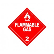 Class 2.1 Flammable Gas Label DG-02A