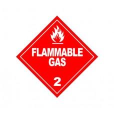 Class 2.1 Flammable Gas Label DG-02B (1000pcs/pkt)