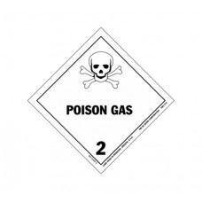 Class 2.4 Poisonous Gas Label DG-06B (1000pcs/pkt)