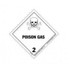 Class 2.4 Poisonous Gas Label DG-06B (1000pcs/pkt)