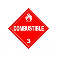 Class 3 Combustible Label DG-08B (1000pcs/pkt)