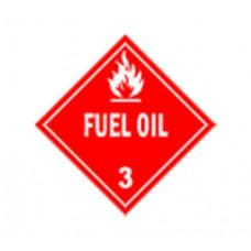 Class 3 Fuel Oil Label DG-10A