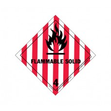Class 4.1 Flammable Solids Label DG-12B (1000pcs/pkt)