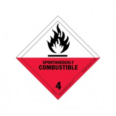 Class 4.2 Spontaneously Combustible Solids Label DG-13B (1000pcs/pkt)