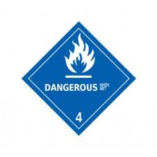 Class 4.3 Dangerous When Wet Label DG-14B (1000pcs/pkt)