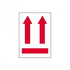 """International Safe Handling Labels - """"Red Arrows"""""""