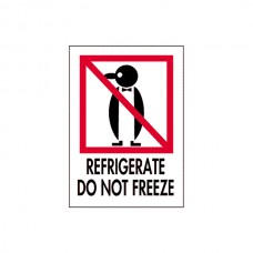 "International Safe Handling Labels - ""Refrigerate Do Not Freeze"""