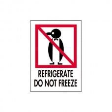 """International Safe Handling Labels - """"Refrigerate Do Not Freeze"""""""