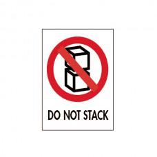 """International Safe Handling Labels - """"Do Not Stack"""""""