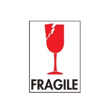 "International Safe Handling Labels - ""Fragile"" with Broken Glass"