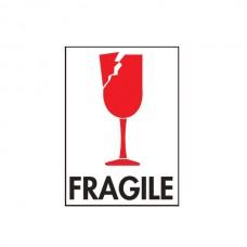 """International Safe Handling Labels - """"Fragile"""" with Broken Glass"""