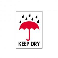 """International Safe Handling Labels - """"Keep Dry"""""""
