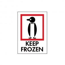 """International Safe Handling Labels - """"Keep Frozen"""""""