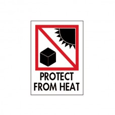 "International Safe Handling Labels - ""Protect from Heat"""