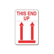 "International Safe Handling Labels - ""This End Up"" with Red Arrows"