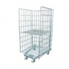 Stocky Roll Container With Mid-Shelf -3RC-17