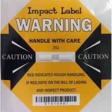 Impact Label 25G Yellow, Drop Height: 15-30cm